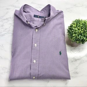 Ralph Lauren big size shirt, mini purple check
